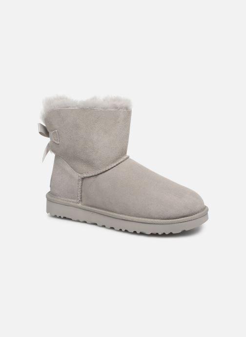 Bottines et boots UGG W Mini Bailey Bow II Gris vue détail/paire