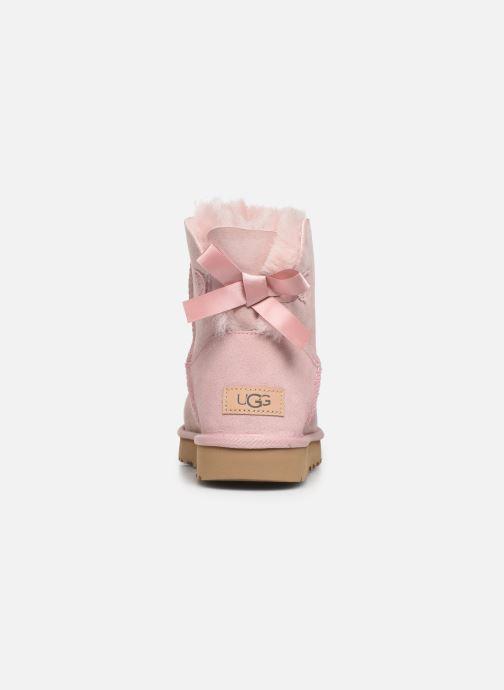 Stivaletti e tronchetti UGG W Mini Bailey Bow II Rosa immagine destra