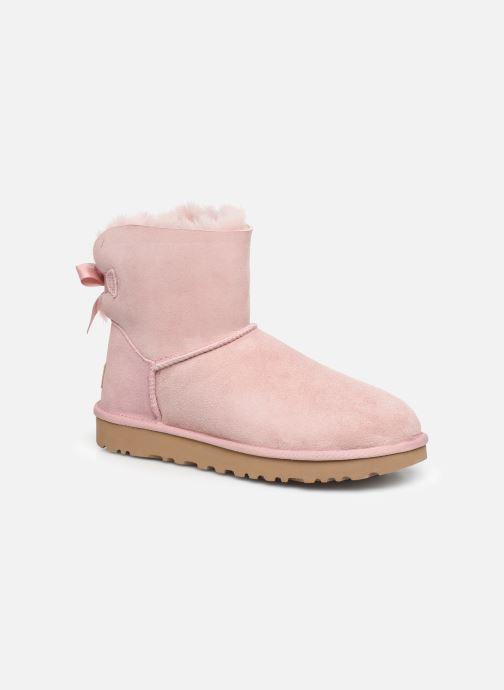 Bottines et boots UGG W Mini Bailey Bow II Rose vue détail/paire