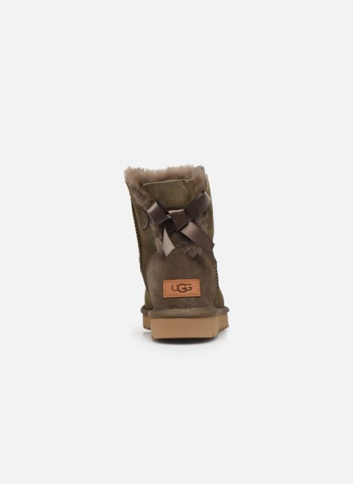 Bottines et boots UGG W Mini Bailey Bow II Vert vue droite