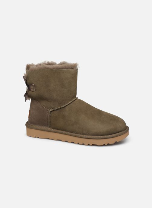 Bottines et boots UGG W Mini Bailey Bow II Vert vue détail/paire