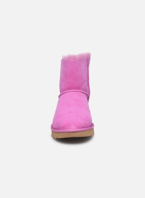 Bottines et boots UGG W Mini Bailey Bow II Rose vue portées chaussures