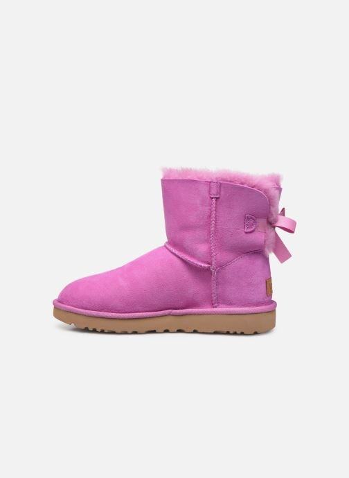 Bottines et boots UGG W Mini Bailey Bow II Rose vue face