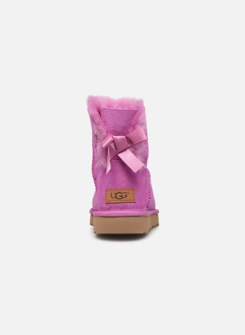 Bottines et boots UGG W Mini Bailey Bow II Rose vue droite