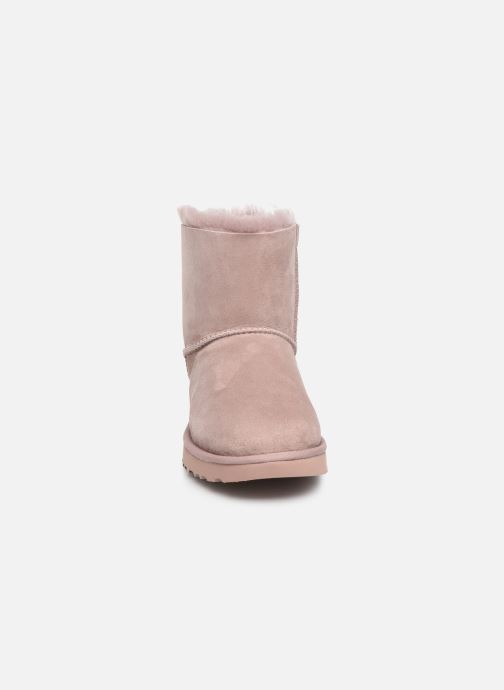 Bottines et boots UGG W Mini Bailey Bow II Rose vue portées chaussures