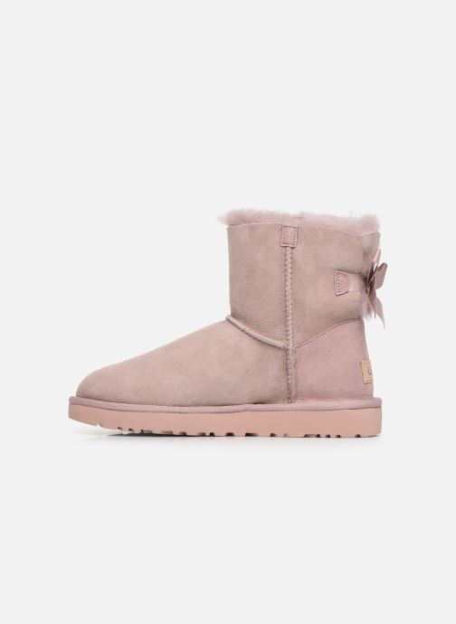 Botines  UGG W Mini Bailey Bow II Rosa vista de frente