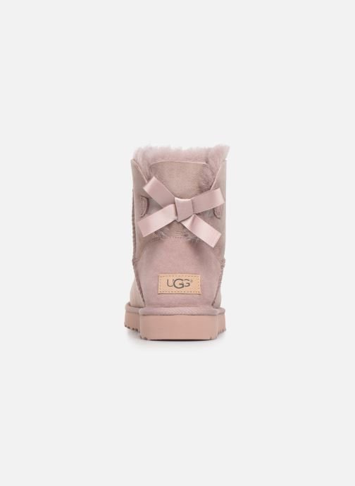 Botines  UGG W Mini Bailey Bow II Rosa vista lateral derecha
