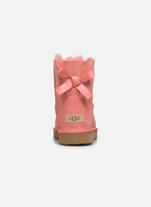 Botines  UGG W Mini Bailey Bow II Rosa vista lateral derecha