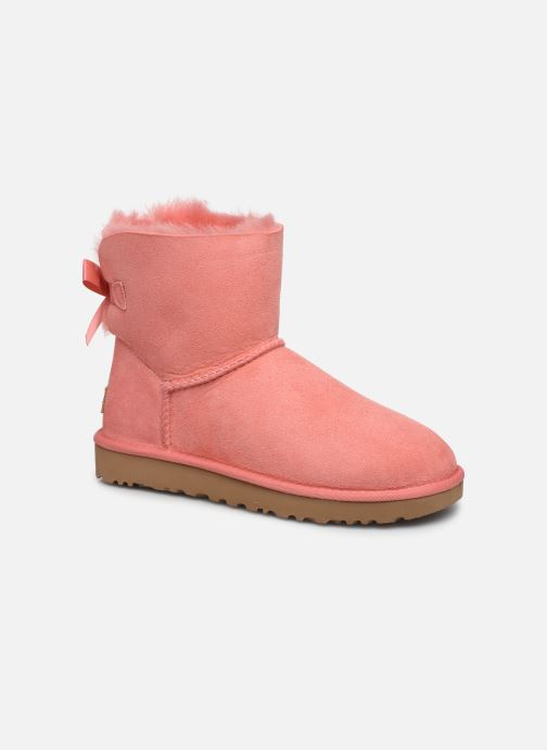 Bottines et boots UGG W Mini Bailey Bow II Rose vue détail/paire