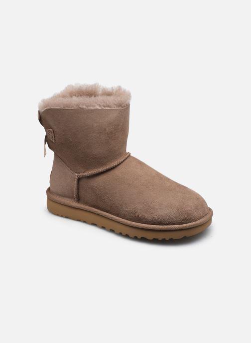 Bottines et boots UGG W Mini Bailey Bow II Beige vue détail/paire