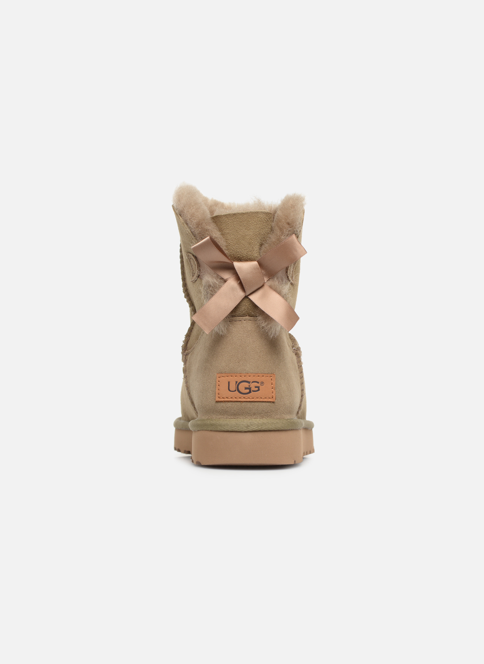 Bottines et boots UGG W Mini Bailey Bow II Marron vue droite