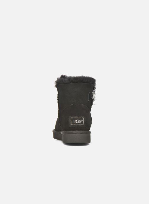 Bottines et boots UGG W Mini Bailey Button Bling Noir vue droite
