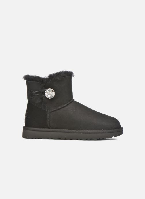 Botines  UGG W Mini Bailey Button Bling Negro vistra trasera