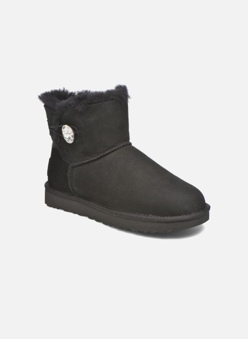 Botines  UGG W Mini Bailey Button Bling Negro vista de detalle / par