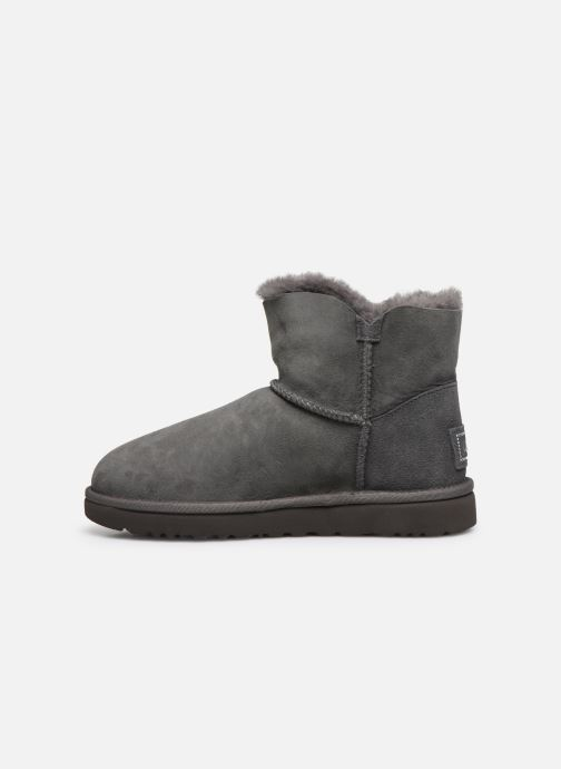 Botines  UGG W Mini Bailey Button Bling Gris vista de frente