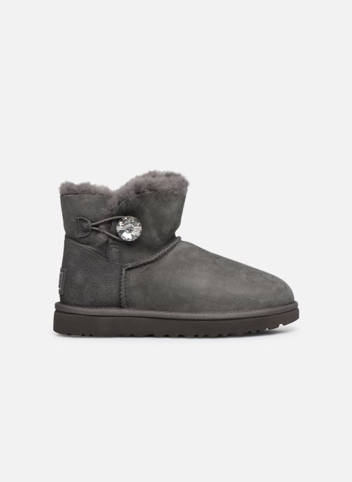 Botines  UGG W Mini Bailey Button Bling Gris vistra trasera