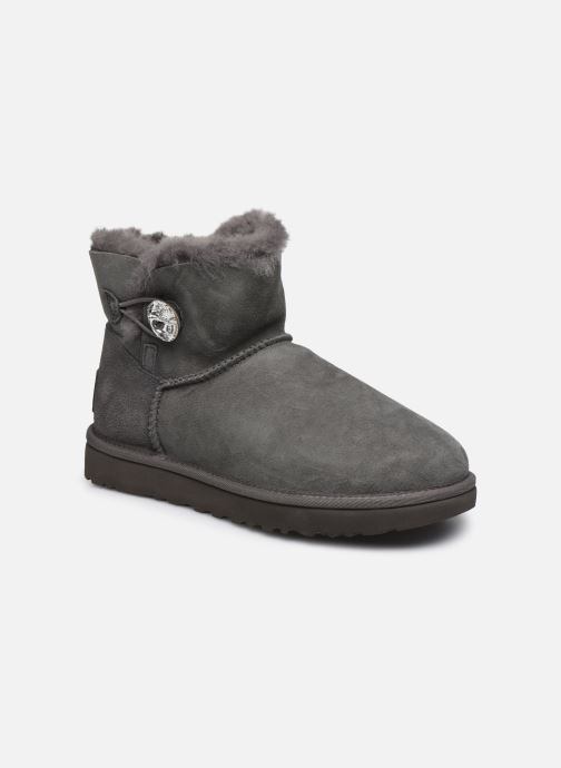 Bottines et boots UGG W Mini Bailey Button Bling Gris vue détail/paire