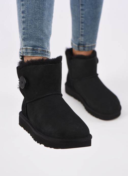 Botines  UGG W Mini Bailey Button II Negro vista de abajo