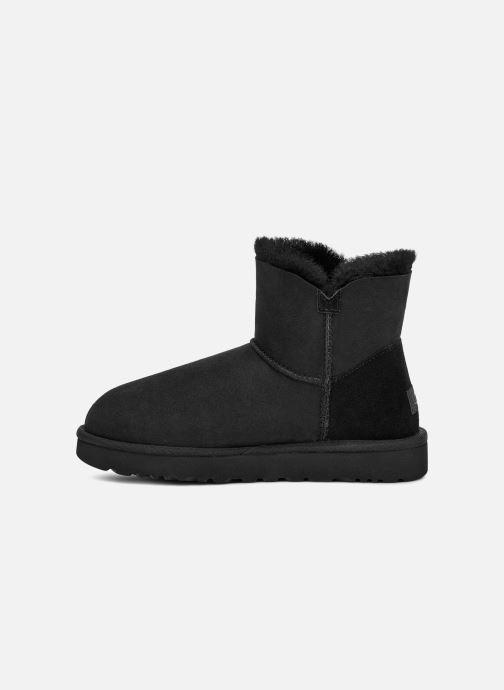 Boots en enkellaarsjes UGG W Mini Bailey Button II Zwart voorkant