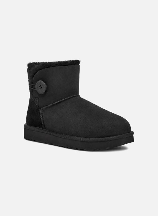 Boots en enkellaarsjes UGG W Mini Bailey Button II Zwart detail