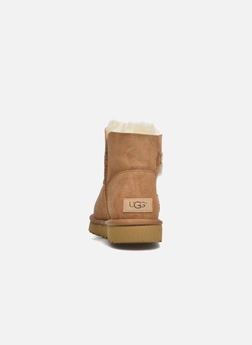 Bottines et boots UGG W Mini Bailey Button II Marron vue droite