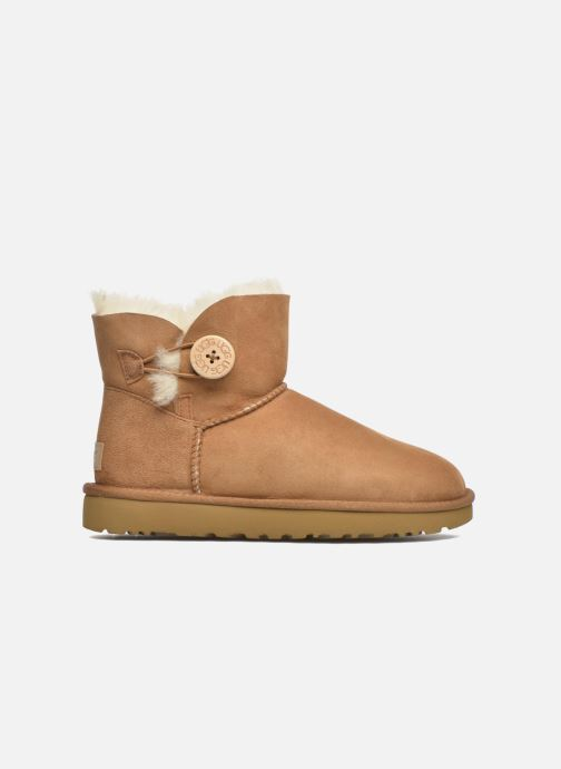 Stivaletti e tronchetti UGG W Mini Bailey Button II Marrone immagine posteriore