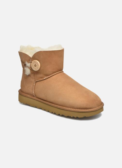 Bottines et boots UGG W Mini Bailey Button II Marron vue détail/paire