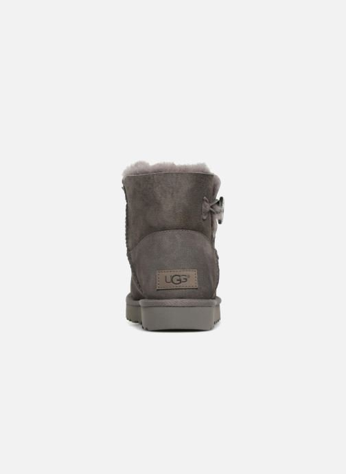 Bottines et boots UGG W Mini Bailey Button II Gris vue droite