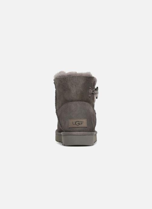 Bottines et boots UGG W Mini Bailey Button II Gris vue droite