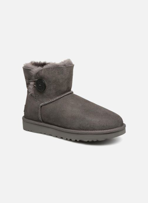 Bottines et boots UGG W Mini Bailey Button II Gris vue détail/paire