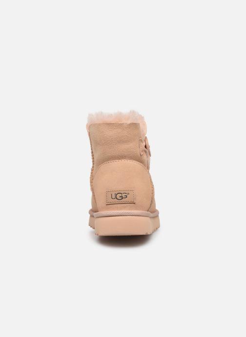 Botines  UGG W Mini Bailey Button II Beige vista lateral derecha