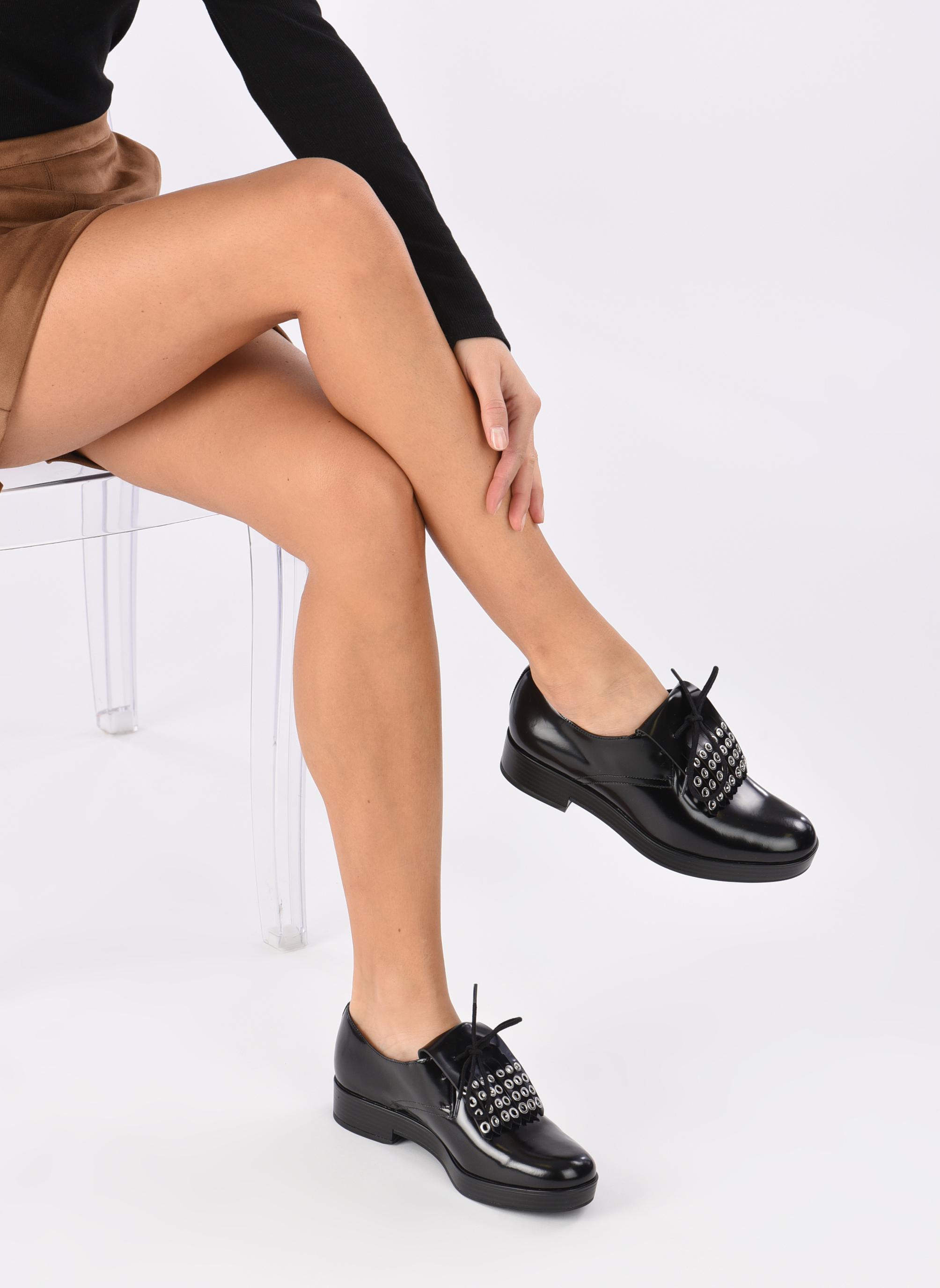 Chaussures à lacets What For Dinhel Noir vue bas / vue portée sac