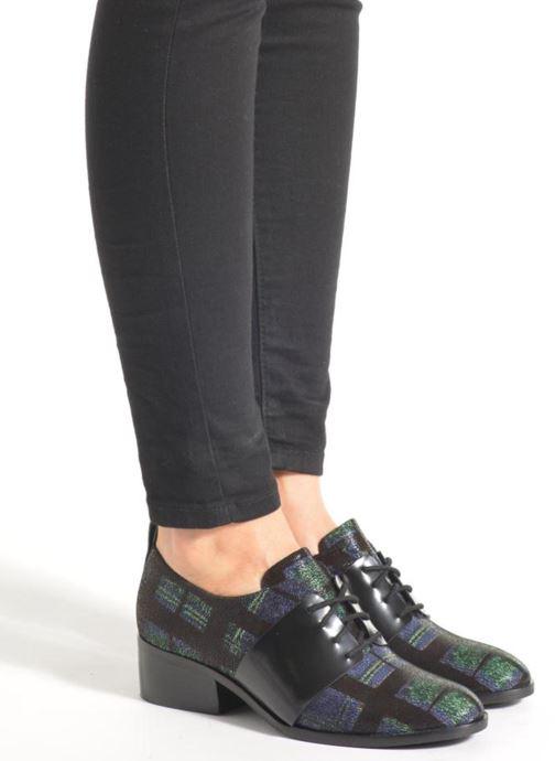 Chaussures à lacets What For Goxoy Bleu vue bas / vue portée sac