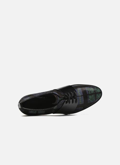 Zapatos con cordones What For Goxoy Azul vista lateral izquierda