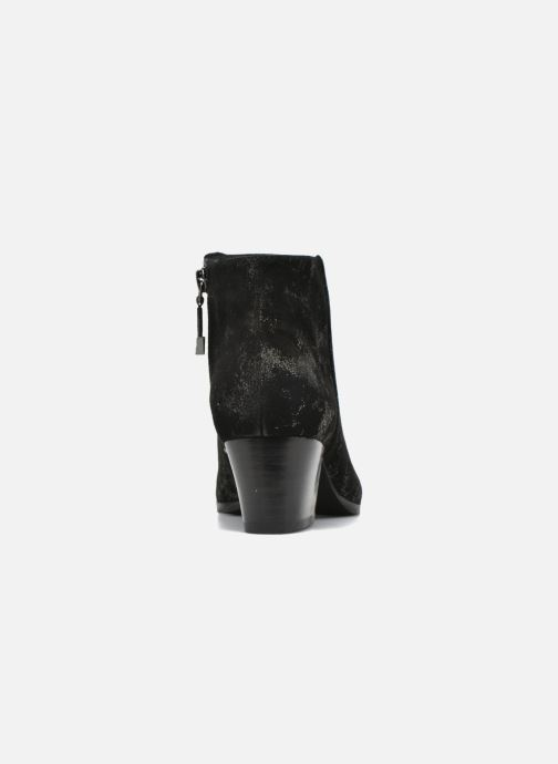 Botines  What For Hecol Negro vista lateral derecha