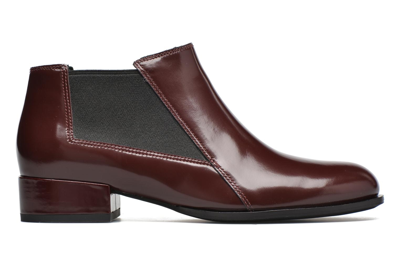 Ankle boots What For Sriso Burgundy back view
