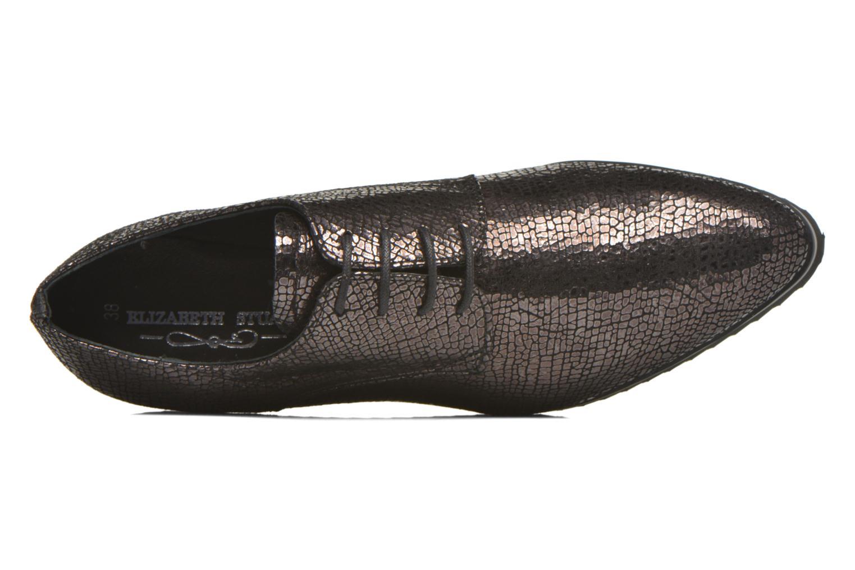 Zapatos con cordones Elizabeth Stuart Vutou 337 Negro vista lateral izquierda