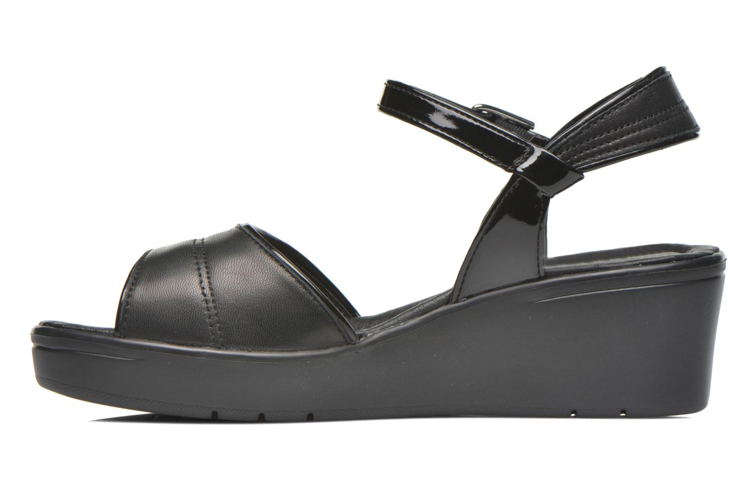 Sandals Stonefly Tess 1 Goat Black front view