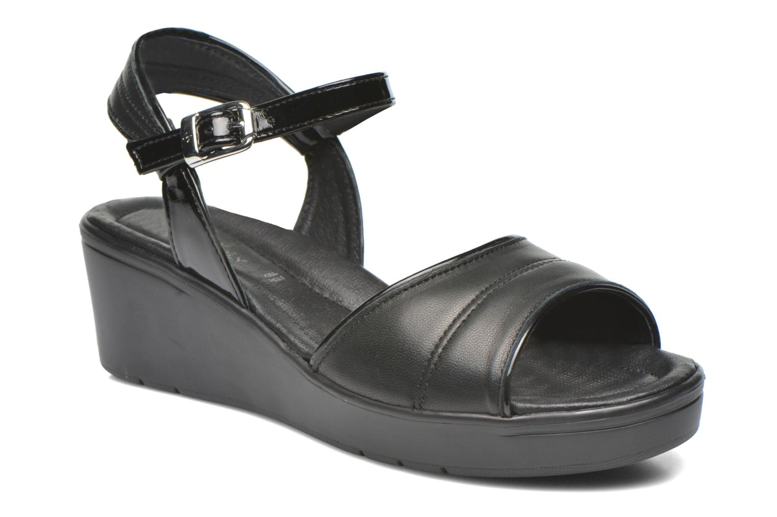 Sandals Stonefly Tess 1 Goat Black detailed view/ Pair view