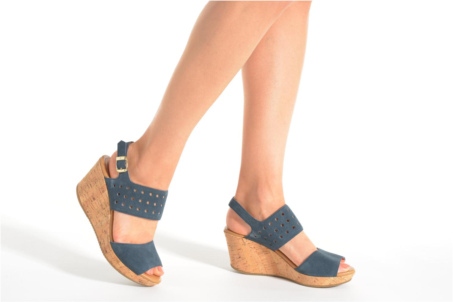 Sandals Stonefly Marlene 19 Velour Blue view from underneath / model view