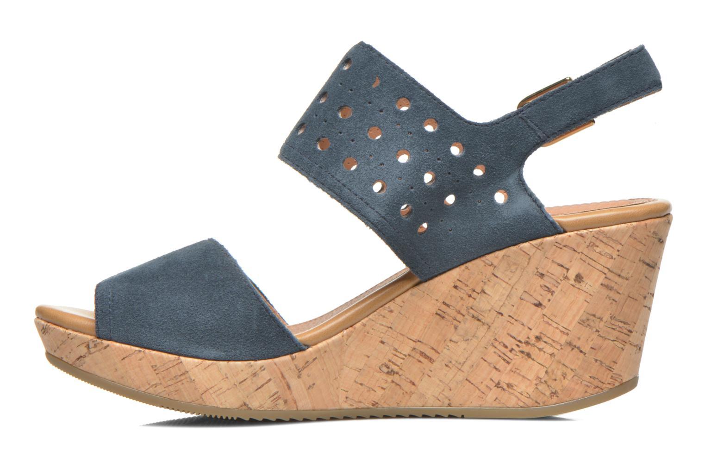 Sandales et nu-pieds Stonefly Marlene 19 Velour Bleu vue face
