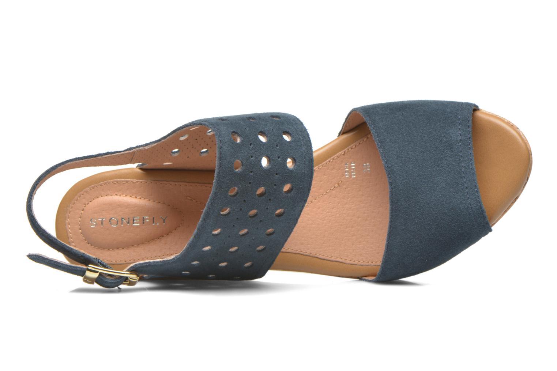 Sandales et nu-pieds Stonefly Marlene 19 Velour Bleu vue gauche