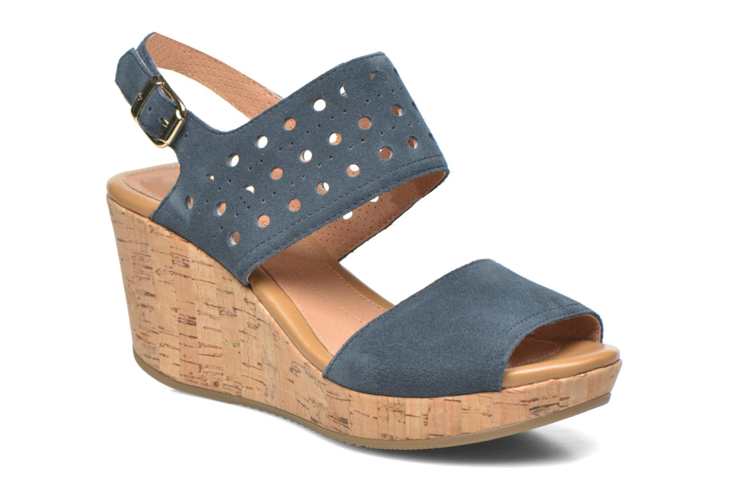 Sandals Stonefly Marlene 19 Velour Blue detailed view/ Pair view