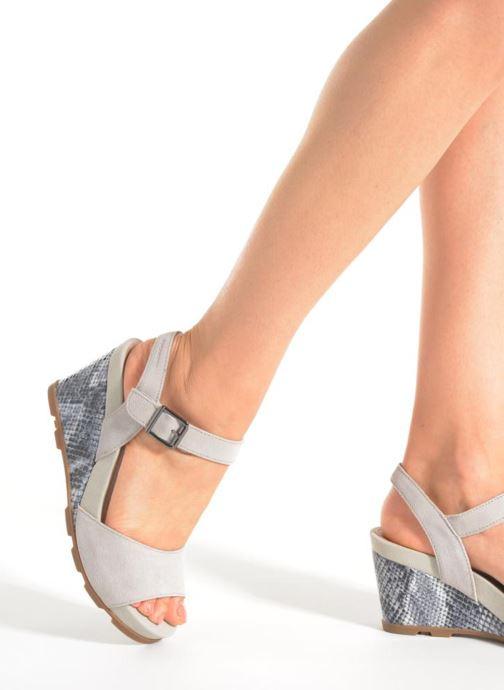 Sandales et nu-pieds Stonefly Anita 1 Velour Gris vue bas / vue portée sac