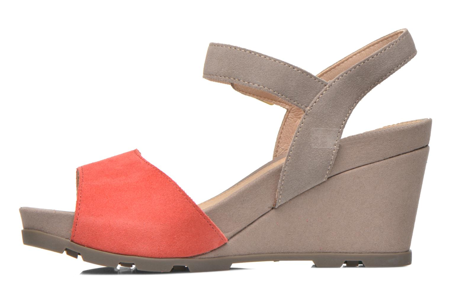 Sandals Stonefly Anita 1 Velour Grey front view