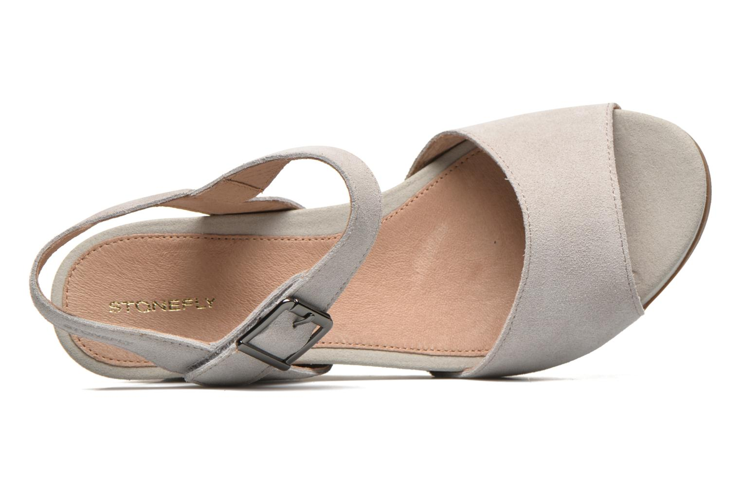 Sandals Stonefly Anita 1 Velour Grey view from the left
