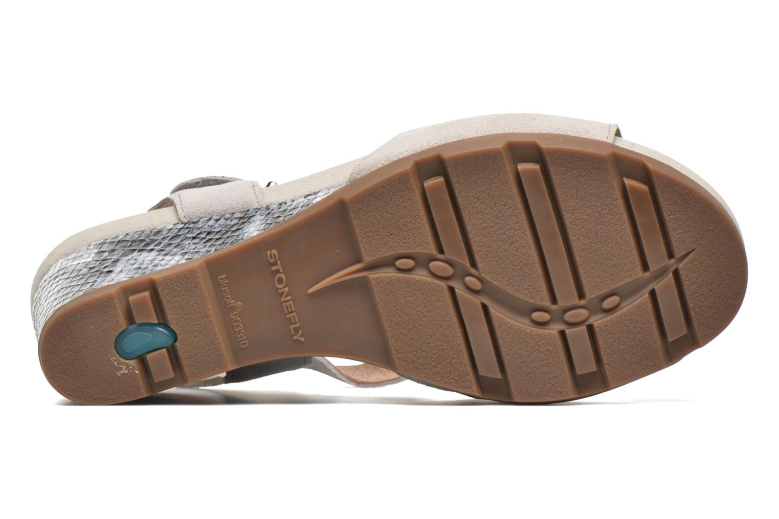 Sandals Stonefly Anita 1 Velour Grey view from above