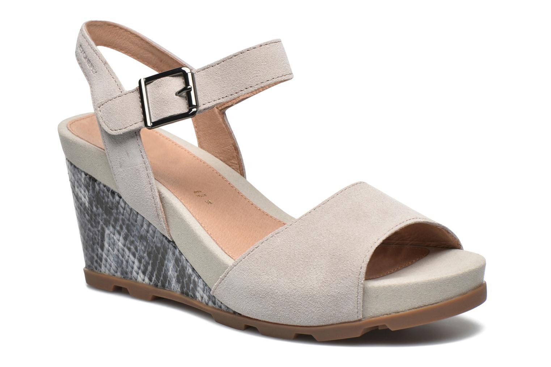 Sandals Stonefly Anita 1 Velour Grey detailed view/ Pair view