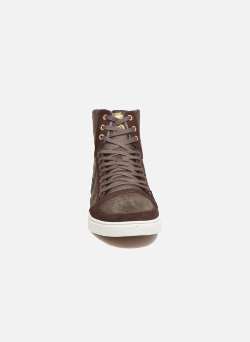 Sneaker Hummel Ten Star Mono Oiled High braun schuhe getragen