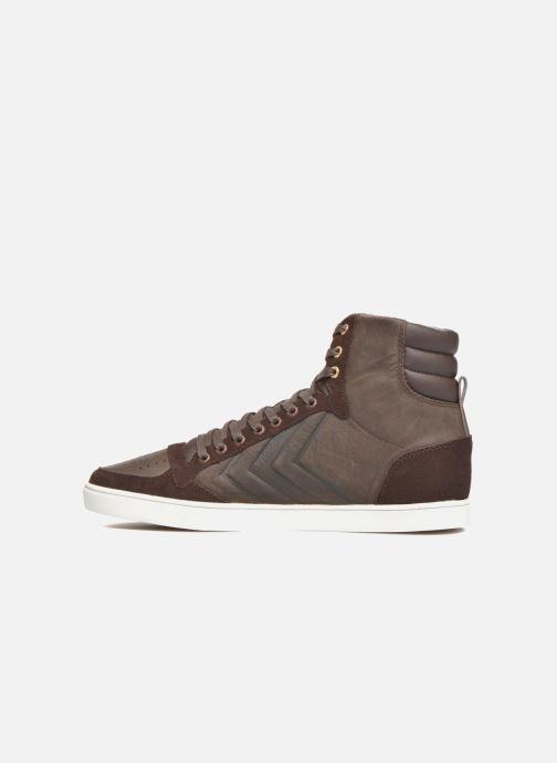 Sneakers Hummel Ten Star Mono Oiled High Brun se forfra